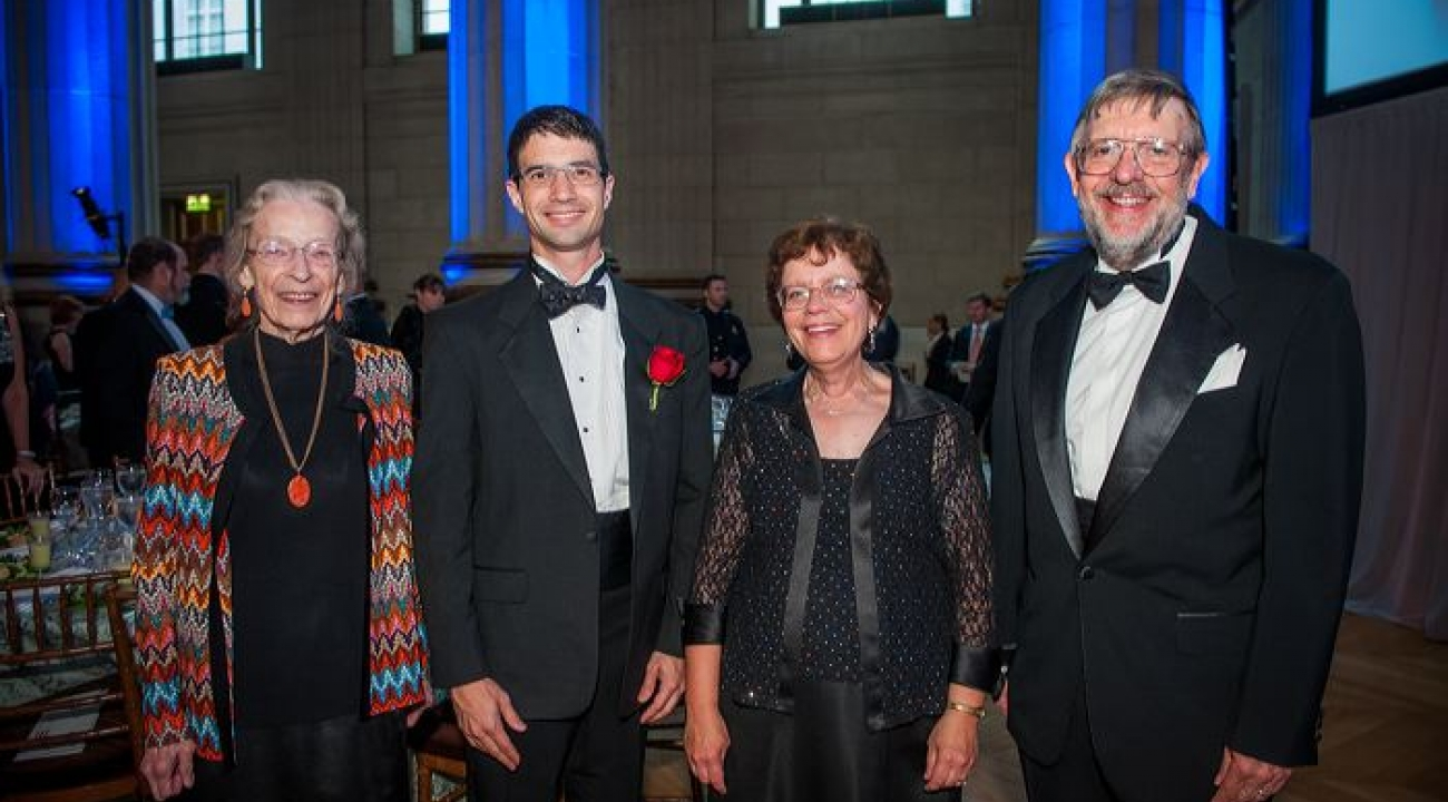 Katharine Gebbie (Director of the Physical Measurement Laboratory, NIST), Jacob Taylor, Rebecca Blank (Acting Commerce Secretary), and Nobel Prize winner Bill Phillips.