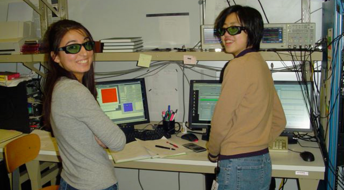 Left: Abby Perry, Ph.D. student. Right: Yu-Ju Lin, postdoctoral researcher.