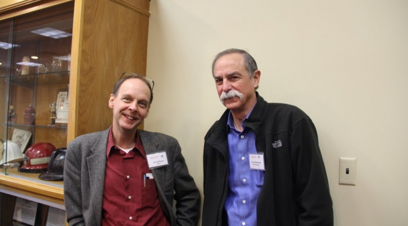 Dave Wineland with Carl Williams, Chief of the Quantum Measurement Division of the Physical Measurement Laboratory at NIST