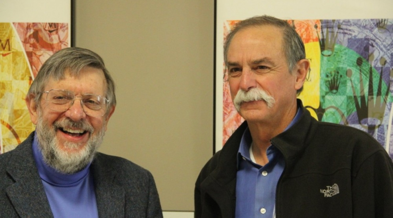 Dave Wineland with Bill Phillips at JQI