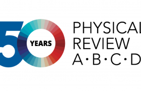Logo of the 50th anniversary of the journals Physical Review A through D