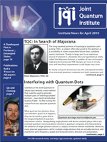 Cover of JQI Newsletter, April 2010