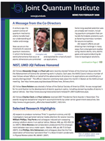 Cover of JQI Newsletter, February 2008