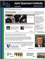 Cover of JQI Newsletter, February 2009