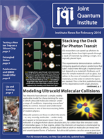 Cover of JQI Newsletter, February 2010
