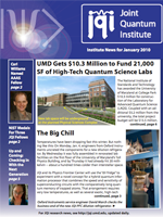 Cover of JQI Newsletter, January 2010