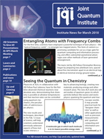 Cover of JQI Newsletter, March 2010