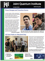 Cover of JQI Newsletter, May 2009