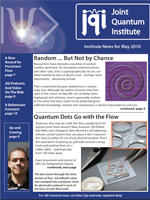 Cover of JQI Newsletter, May 2010