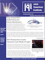Cover of JQI Newsletter, October-November 2010