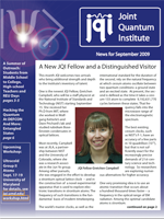 Cover of JQI Newsletter, September 2009