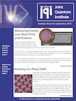 Cover of JQI Newsletter, September 2010