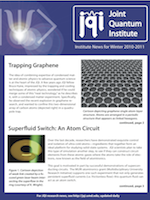 Cover of JQI Newsletter, Winter 2010-2011